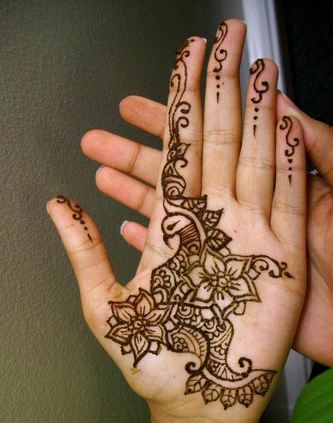 Simple Mehndi Patterns Palms : Hot rod car tattoos henna artist