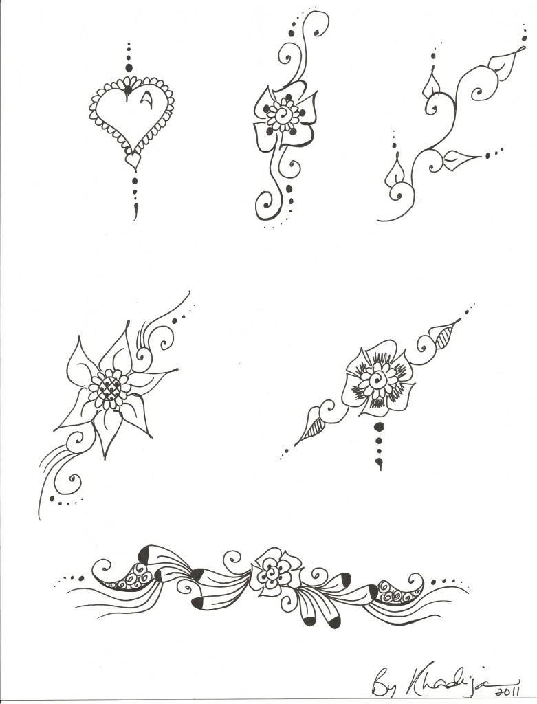 free henna designs for beginners