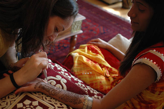Darcy doing henna bridal