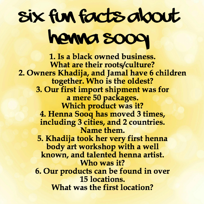 6 fun facts about henna sooq henna blog spot for Facts about tattoos
