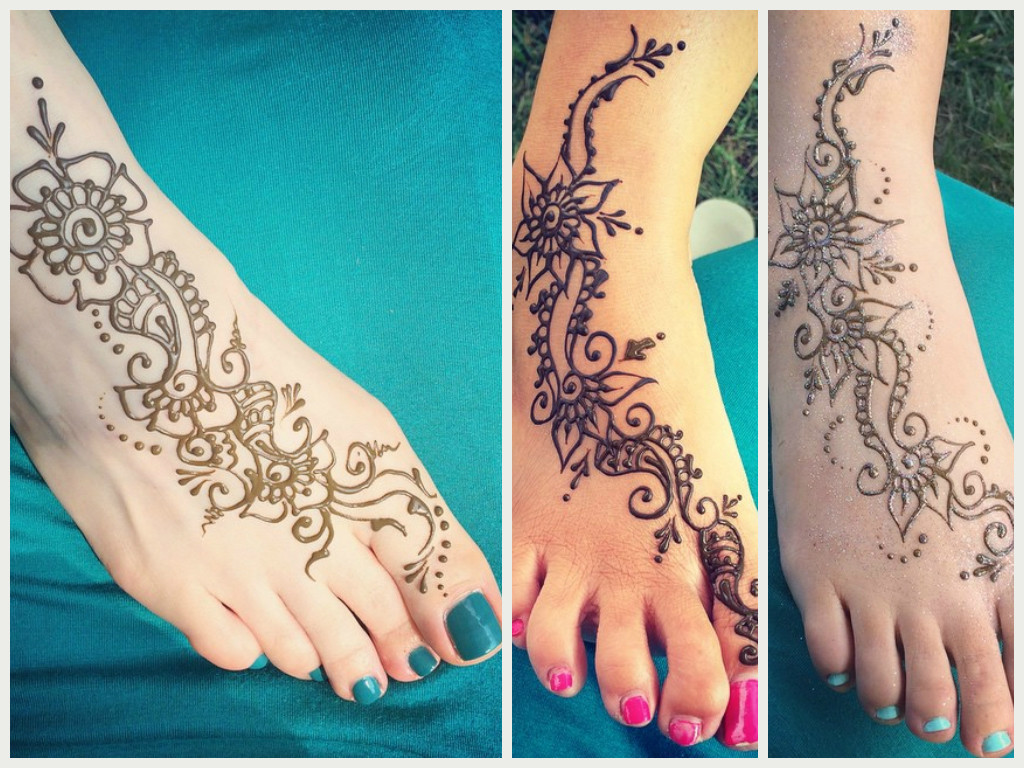 Foot henna temporary tattoo sooq birthday party graduation prom collage
