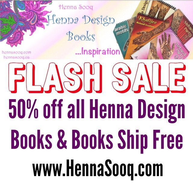 50% off all Henna Design Books