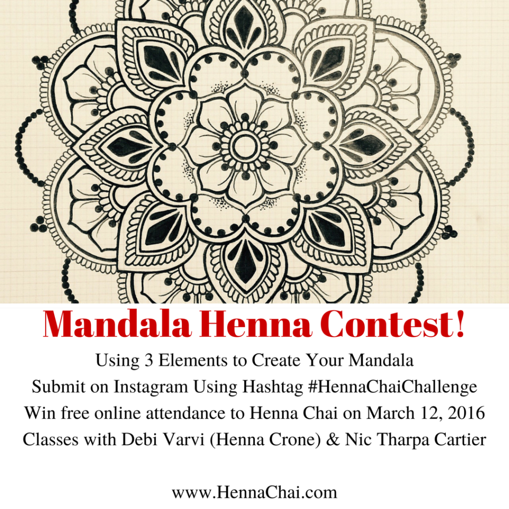 Mandala Henna Contest 2016 March hennasooq hennachai