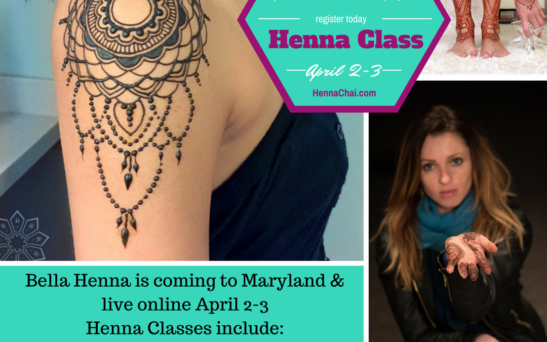 Last Days to Register for Bella Henna Classes
