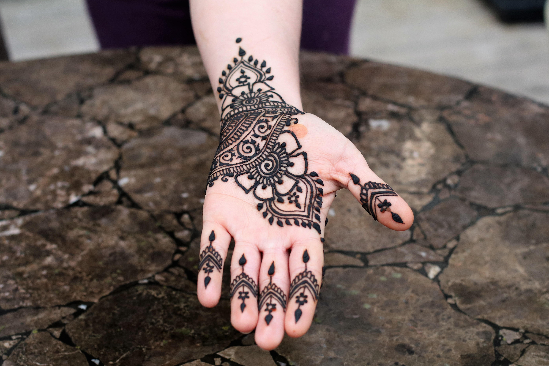 Mixing Jagua Juice To Create A Black Henna Design Henna