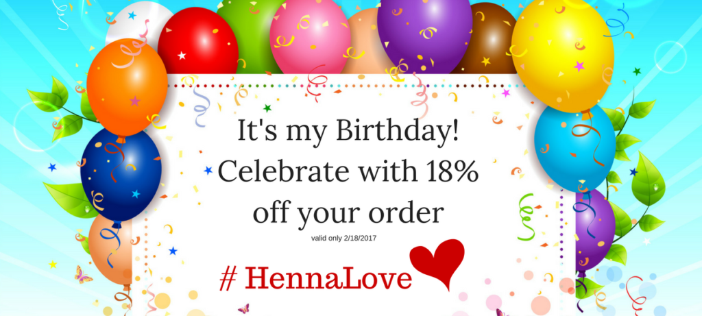 It's my Birthday! Celebrate with 18% off