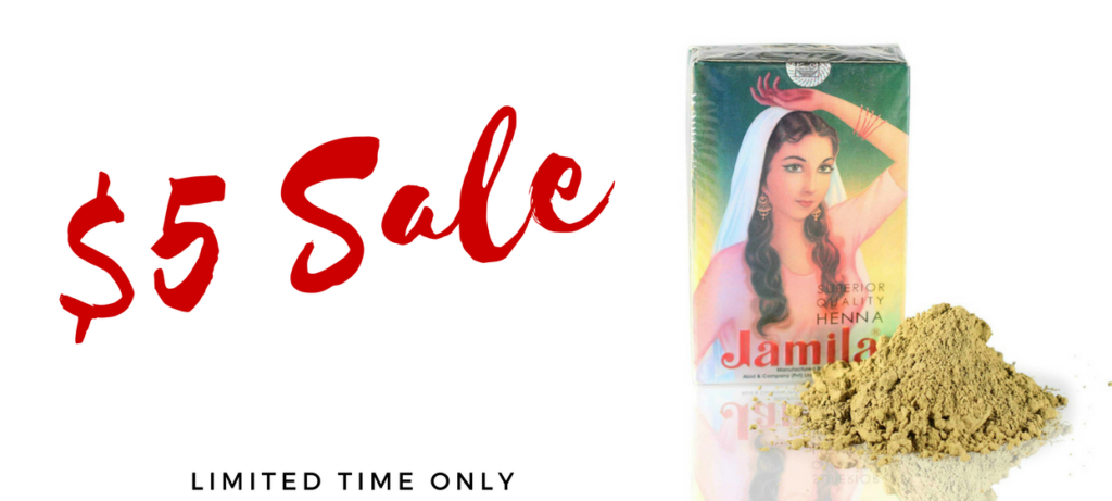 $5 Sale on Jamila Henna, Indigo for Hair and Ayurvedic Herbs