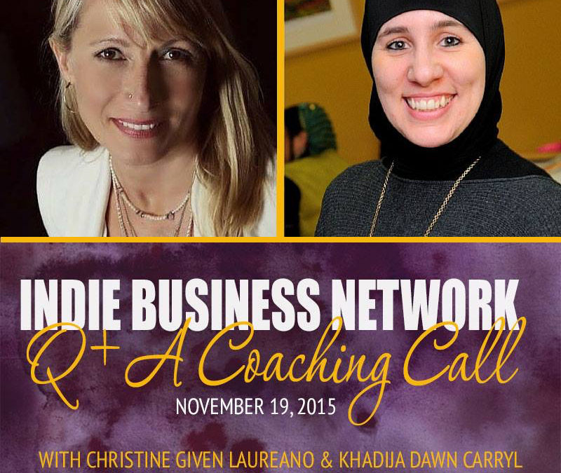 Guest Speaker Khadija on Indie Business Network