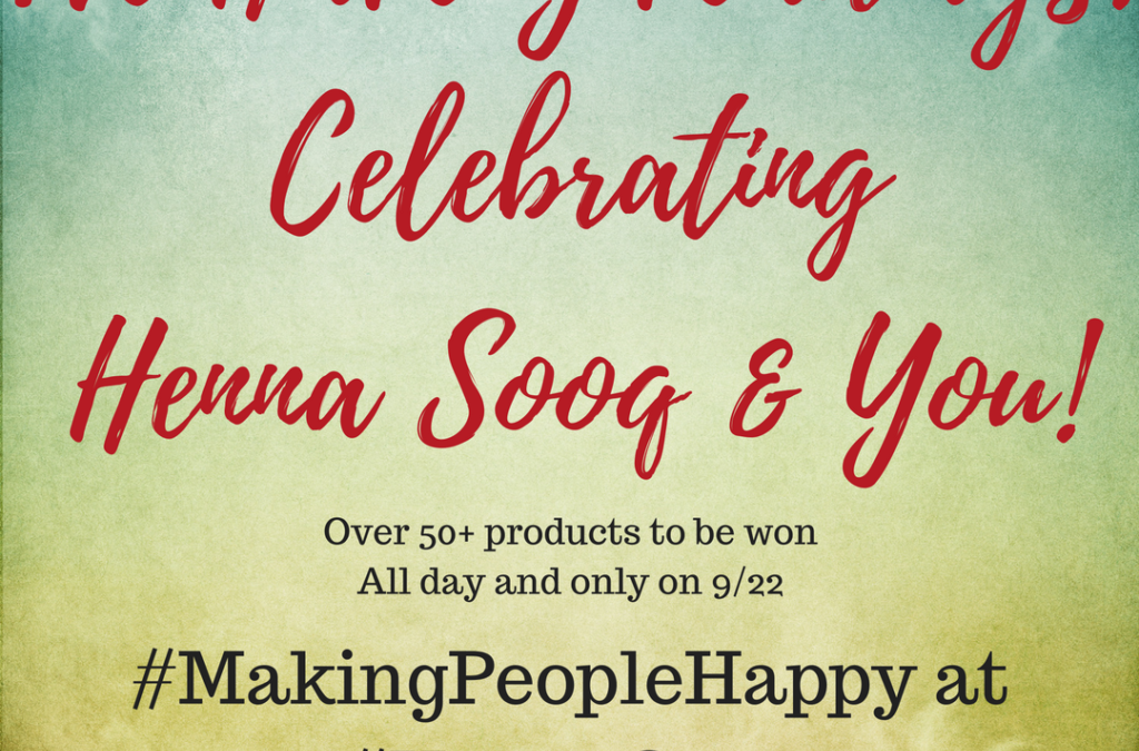 All Day Giveaways on our Instagram: Henna Sooq