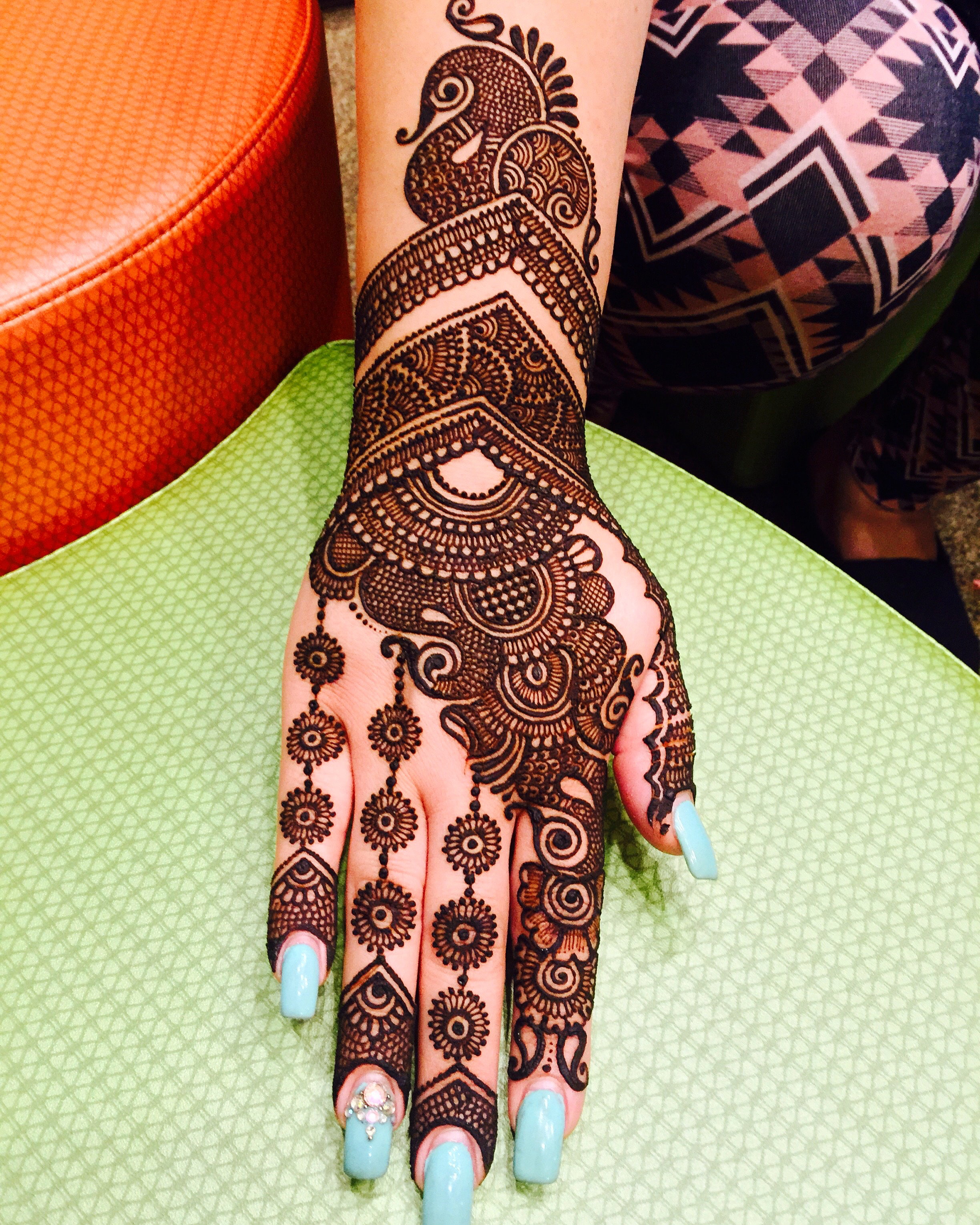 Indian Motifs, Peacocks And Bridal Henna With Maaz: May 14