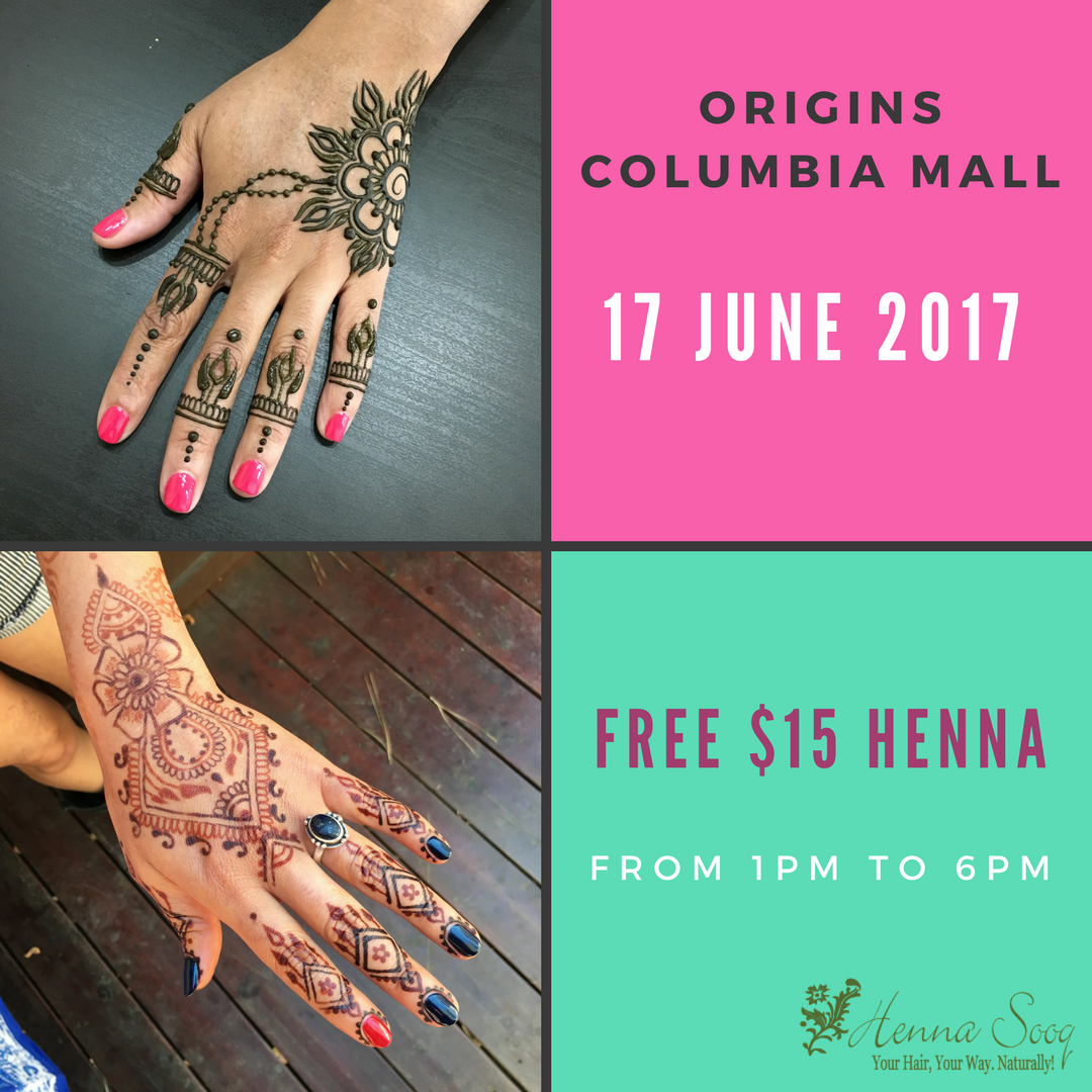 Complimentary Henna At Origins Columbia Mall Henna Blog Spot